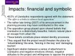 impacts financial and symbolic