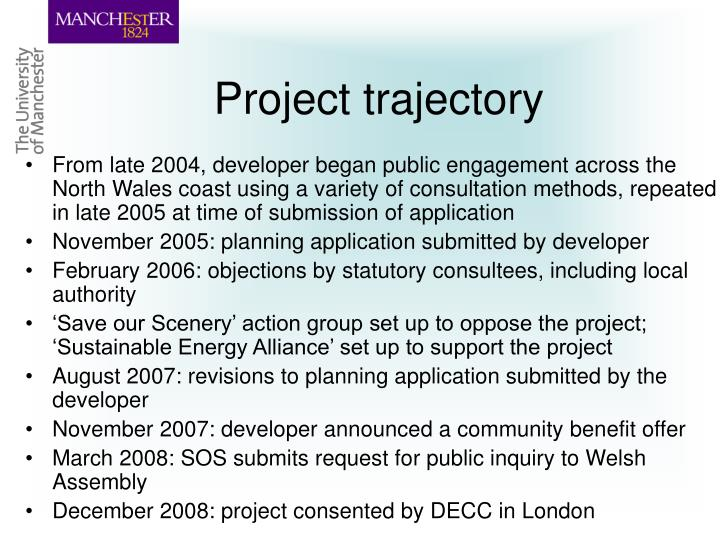 Project trajectory