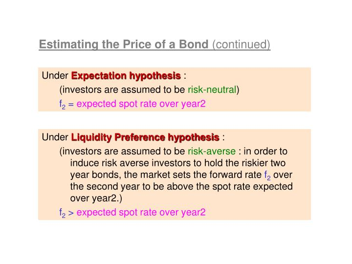 Estimating the Price of a Bond