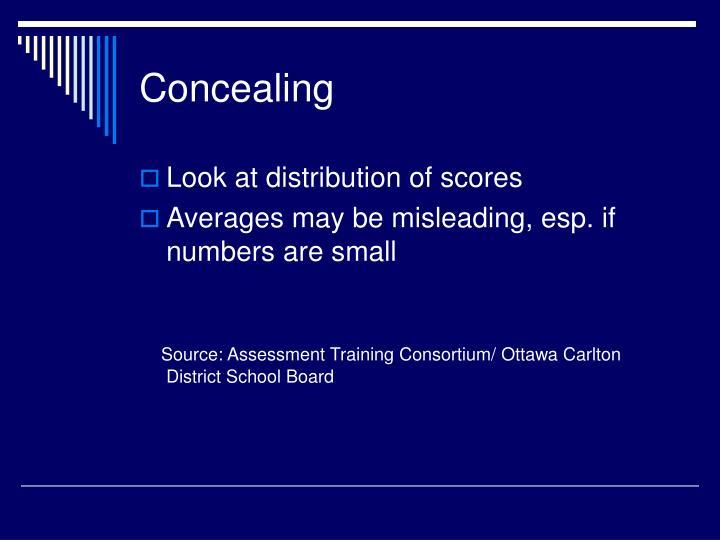 Concealing