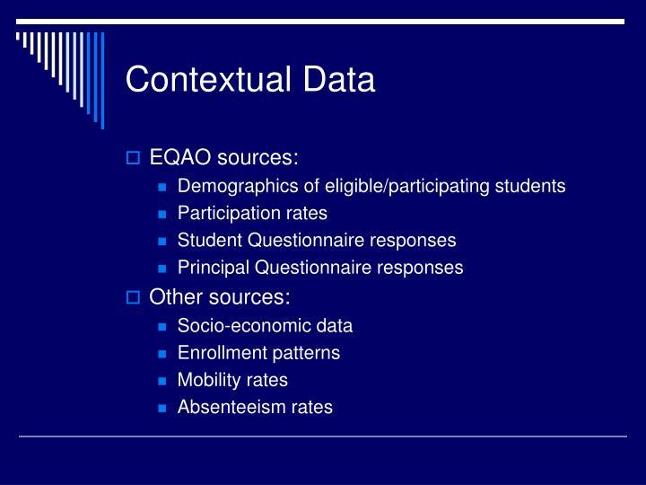 Contextual Data