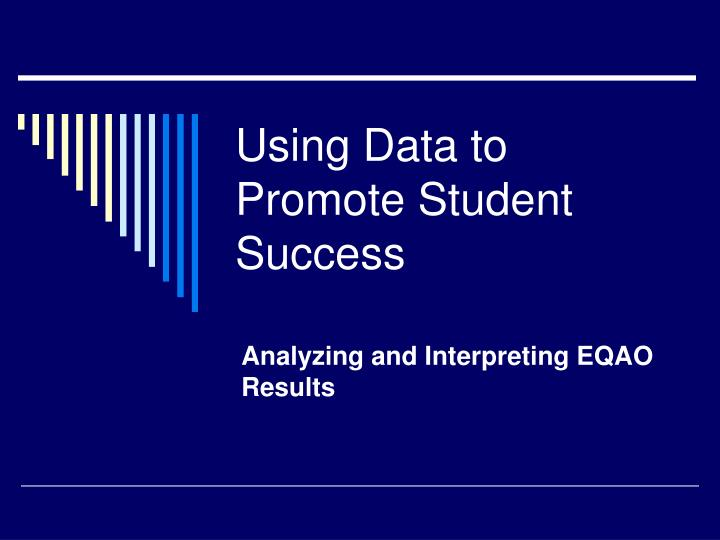 Using data to promote student success