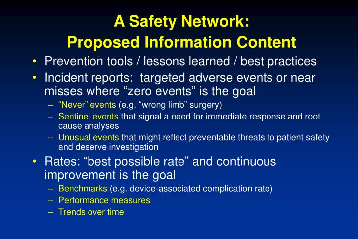 A Safety Network: