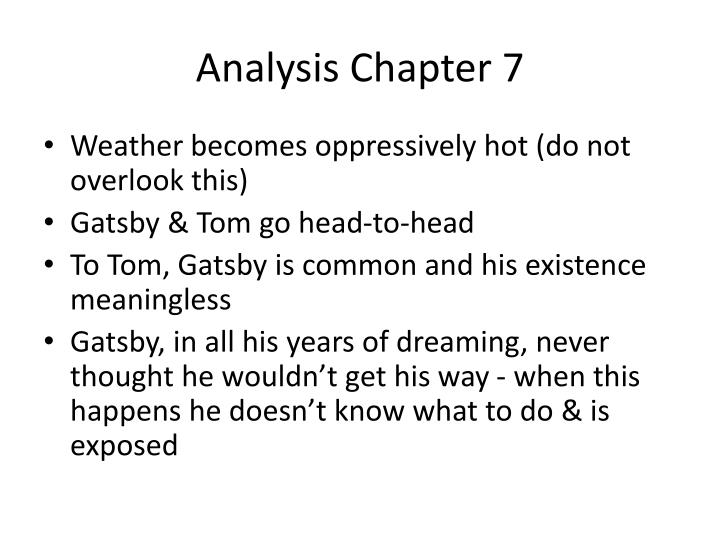 Analysis Chapter 7