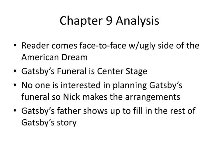 Chapter 9 Analysis