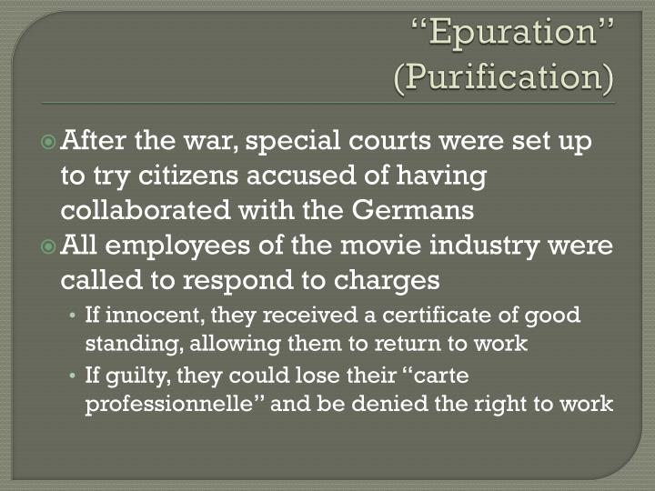 """Epuration"""