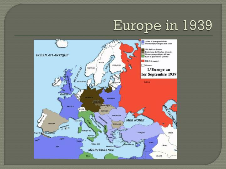 Europe in 1939