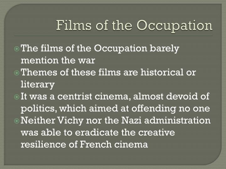 Films of the Occupation