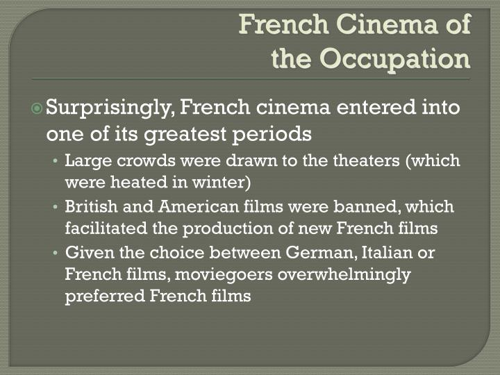 French Cinema of