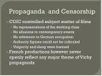 propaganda and censorship
