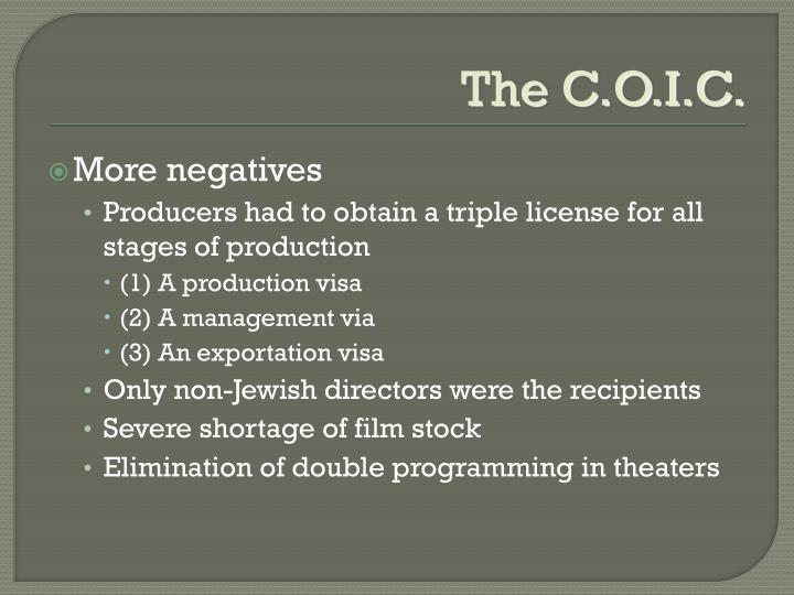 The C.O.I.C.