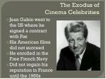 the exodus of cinema celebrities1