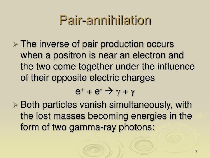Pair-annihilation