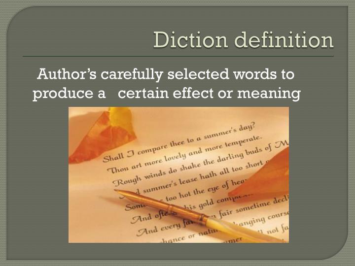 Diction definition