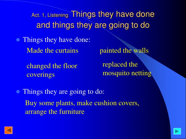 Act. 1, Listening