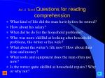 act 2 text 2 questions for reading comprehension