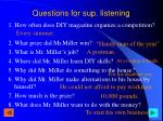 questions for sup listening1