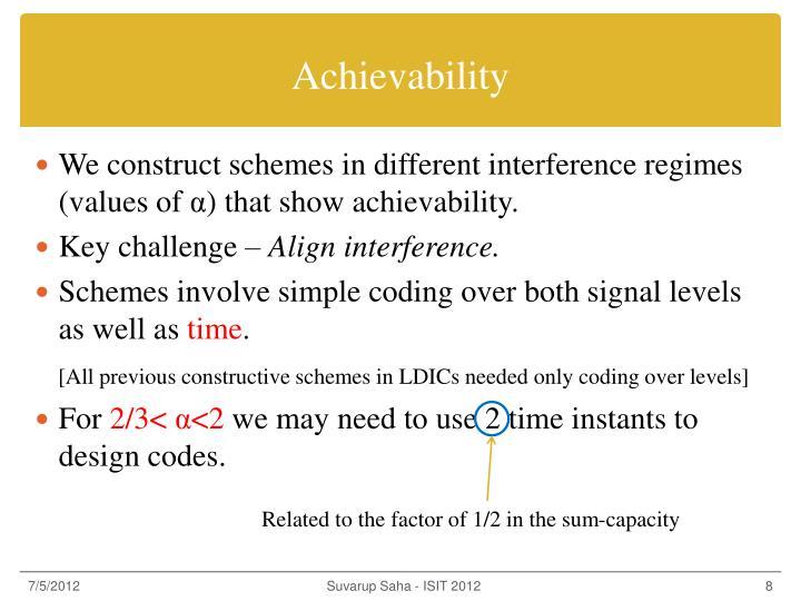 Achievability
