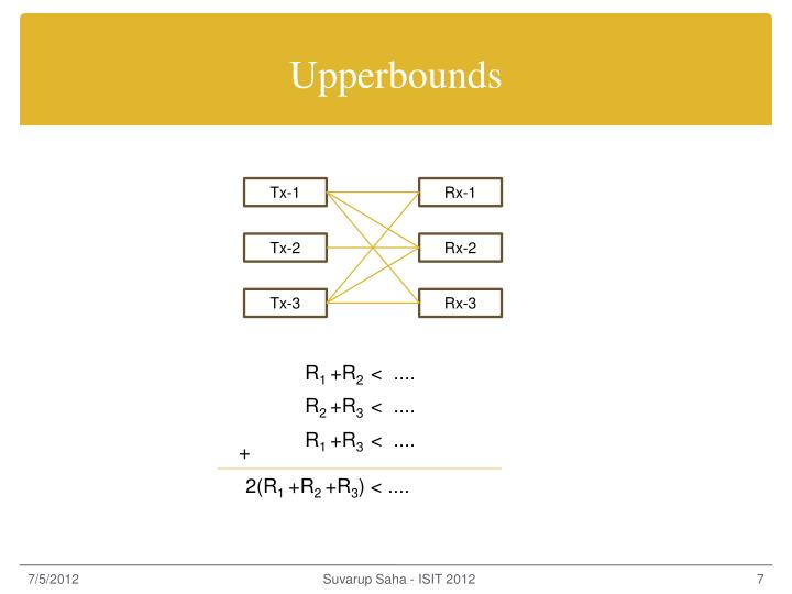 Upperbounds