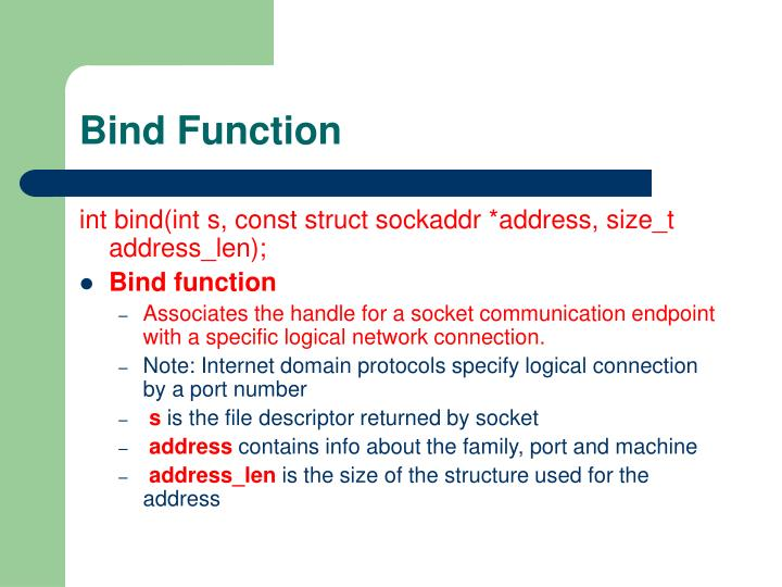 Bind Function