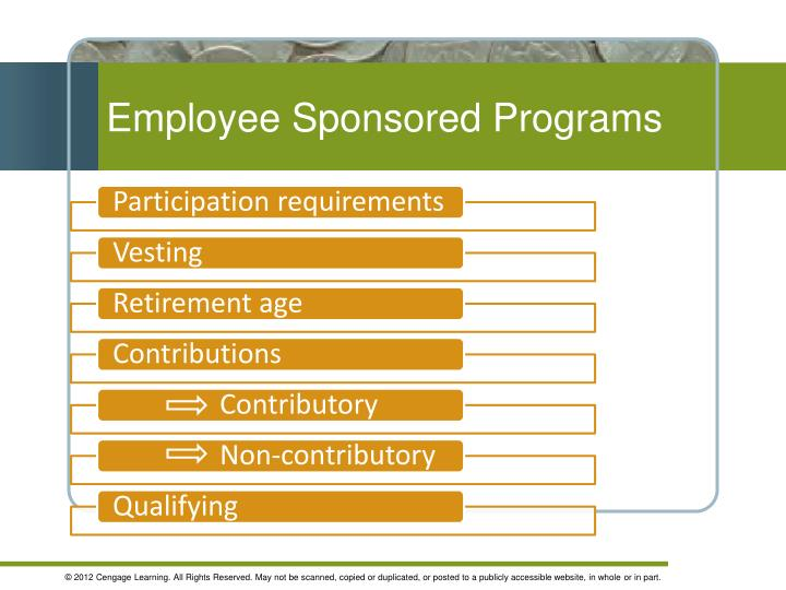 Employee Sponsored Programs