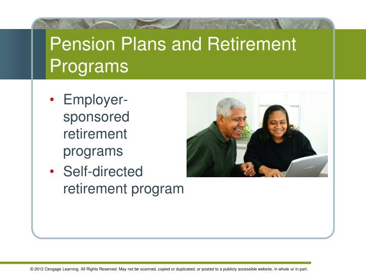 Pension Plans and Retirement Programs