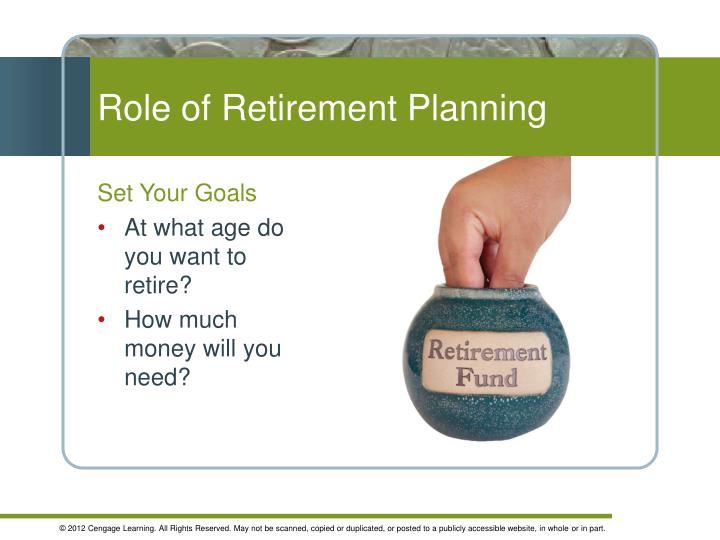 Role of retirement planning