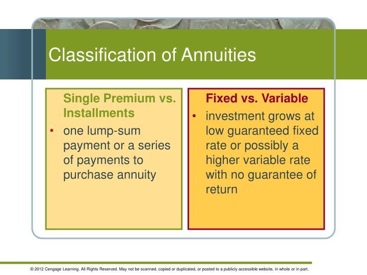 Single Premium vs. Installments