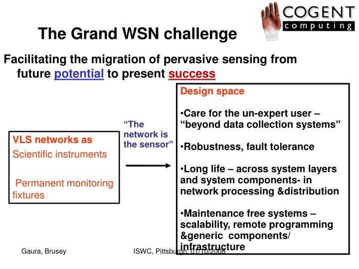 The Grand WSN challenge