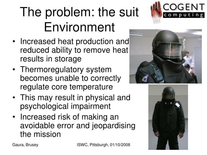 The problem: the suit Environment