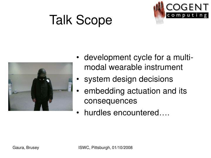 Talk Scope