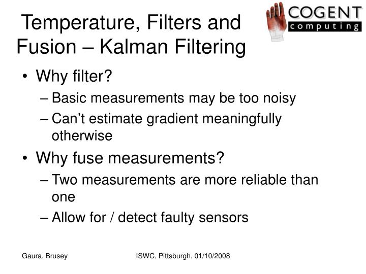 Temperature, Filters and Fusion – Kalman Filtering