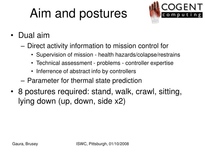 Aim and postures