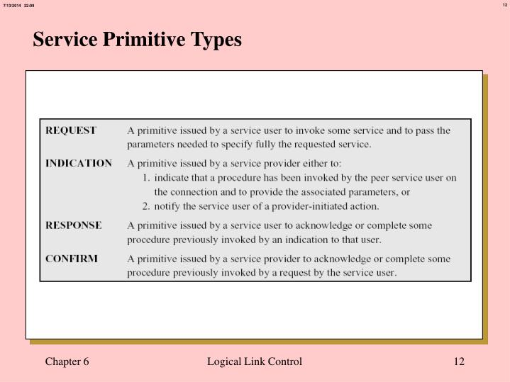 Service Primitive Types