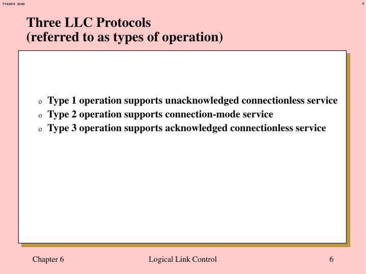 Three LLC Protocols