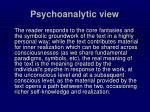 psychoanalytic view
