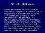 structuralist view