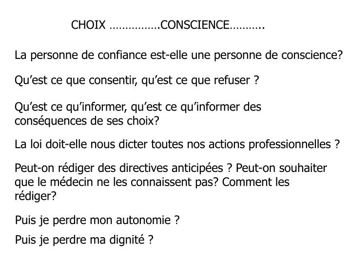 CHOIX .CONSCIENCE..