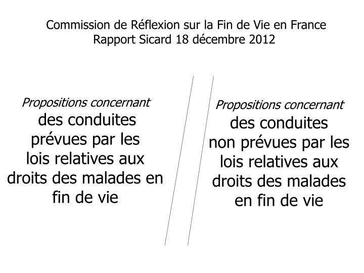 Commission de Rflexion sur la Fin de Vie en France