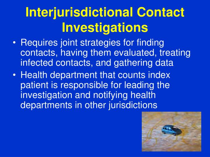Interjurisdictional Contact Investigations