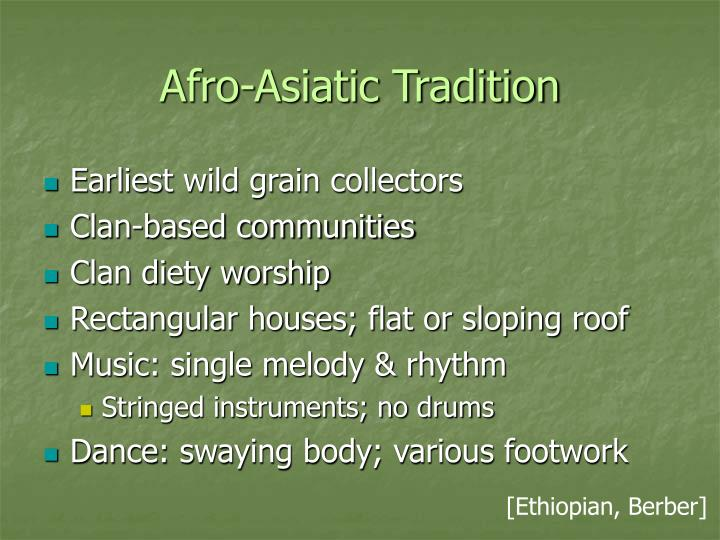 Afro-Asiatic Tradition