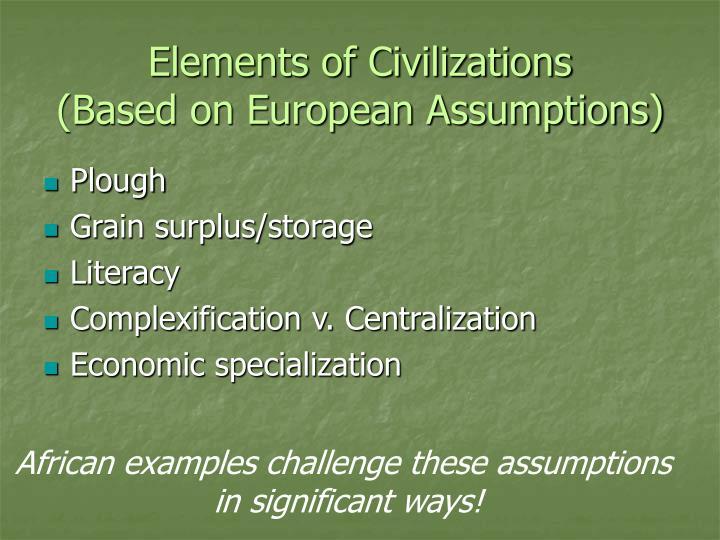 Elements of Civilizations