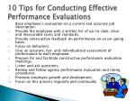 10 tips for conducting effective performance evaluations