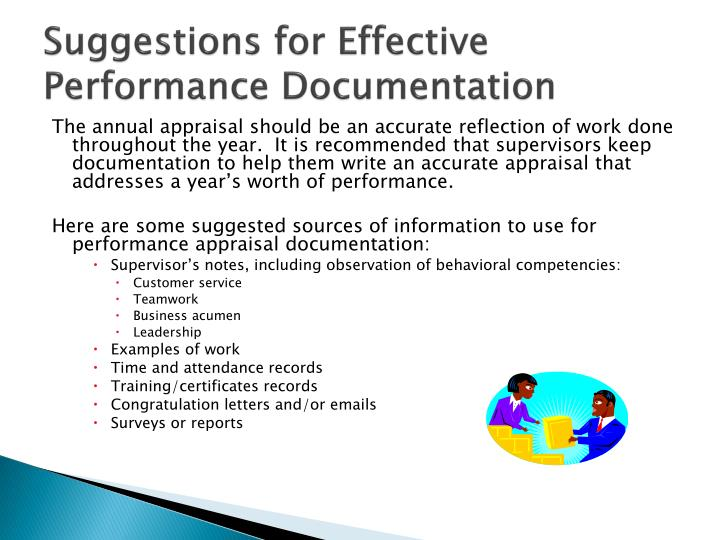 Suggestions for Effective Performance Documentation