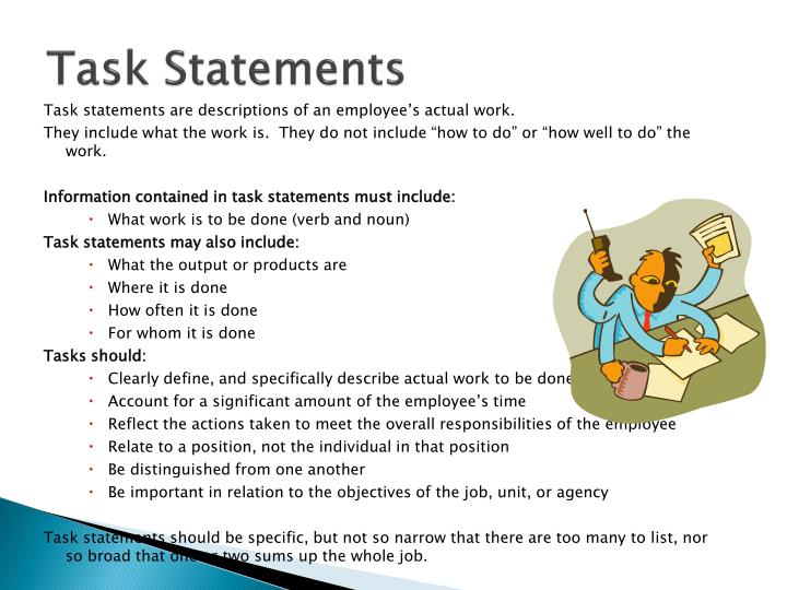 Task Statements