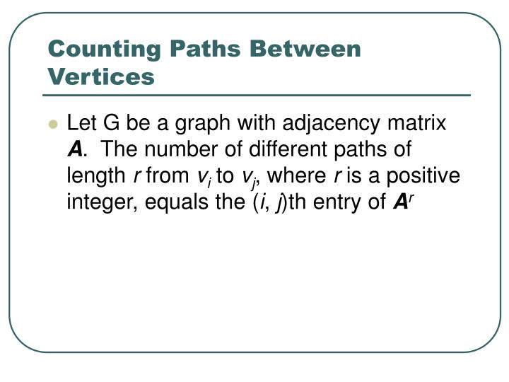 Counting Paths Between Vertices