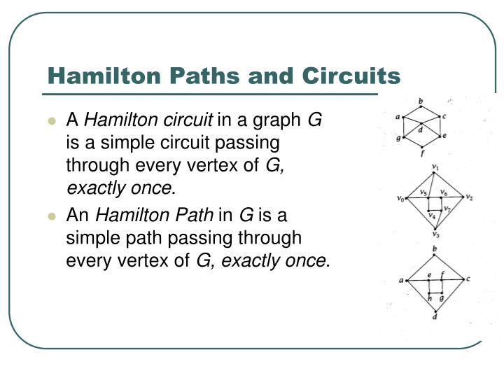 Hamilton Paths and Circuits