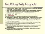 peer editing body paragraphs
