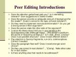 peer editing introductions
