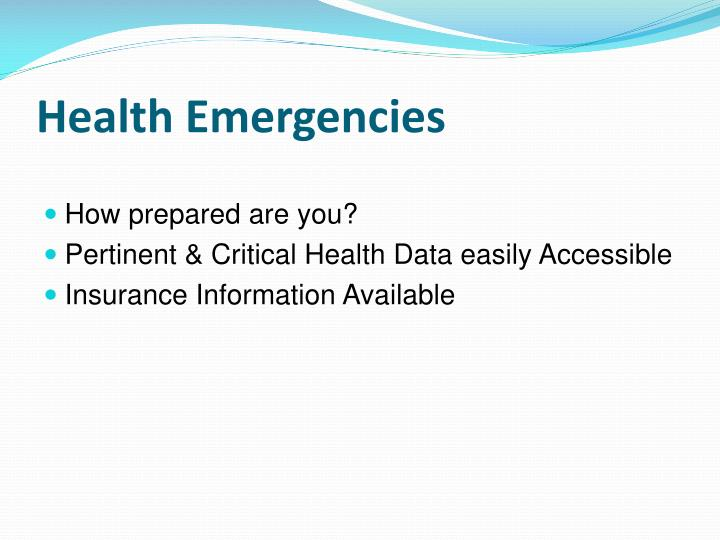 Health Emergencies
